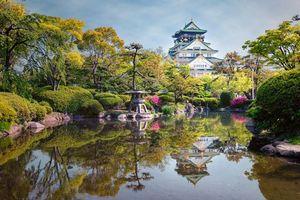 Photo free Osaka Castle, Japan, garden