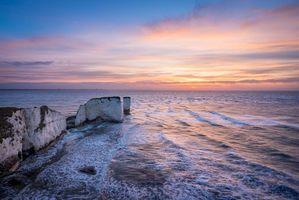 Бесплатные фото Англия,Графство Дорсет,Остров Пербек,море,скалы,закат,пейзаж