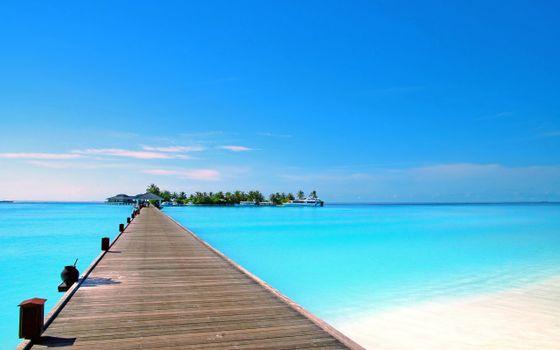 Скачать заставку остров, пляж