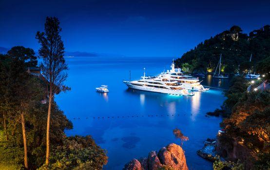 Фото бесплатно море, яхты, вечер