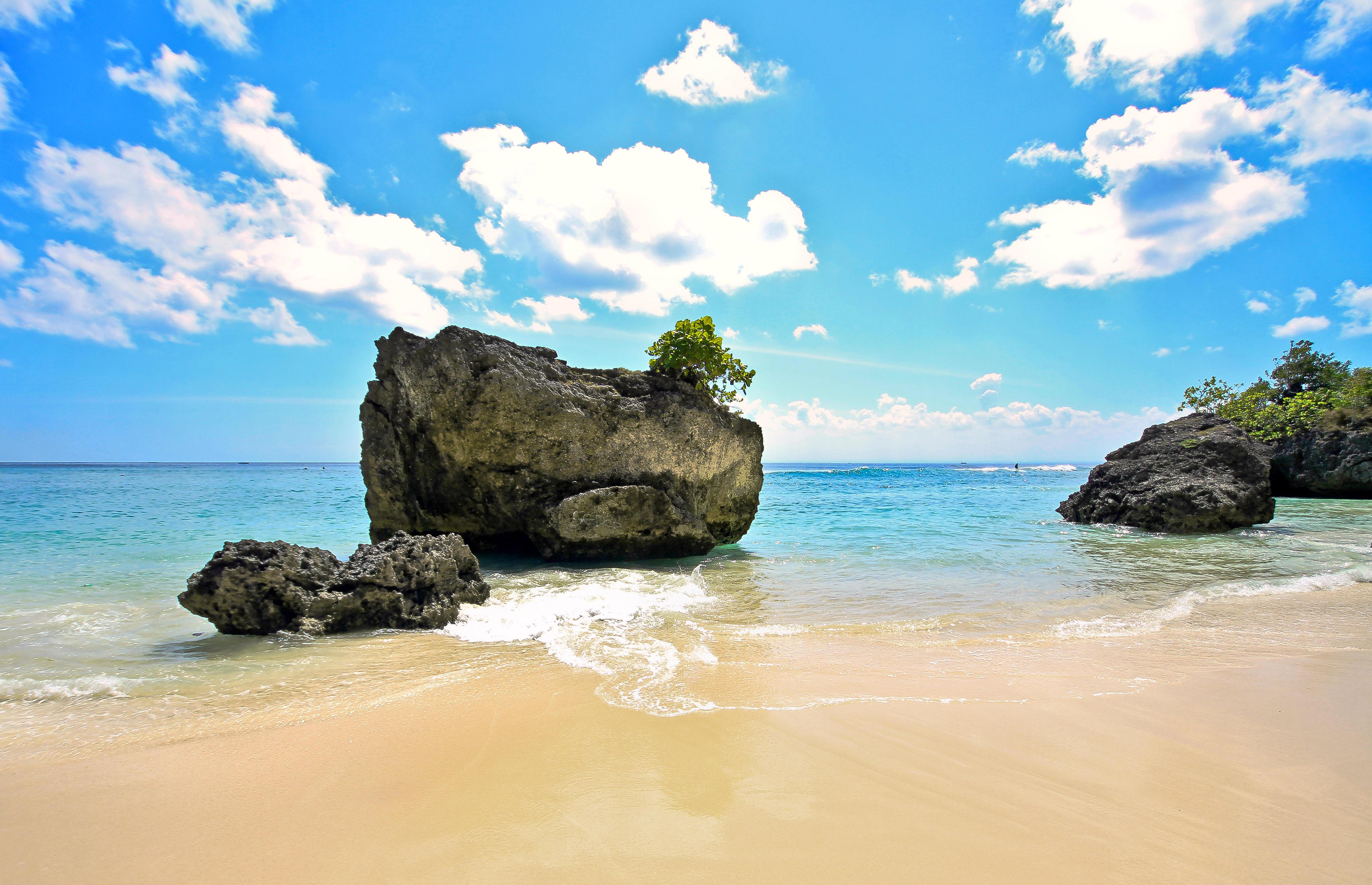 обои море, пляж, камни картинки фото