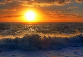 Заставки море, волны, закат
