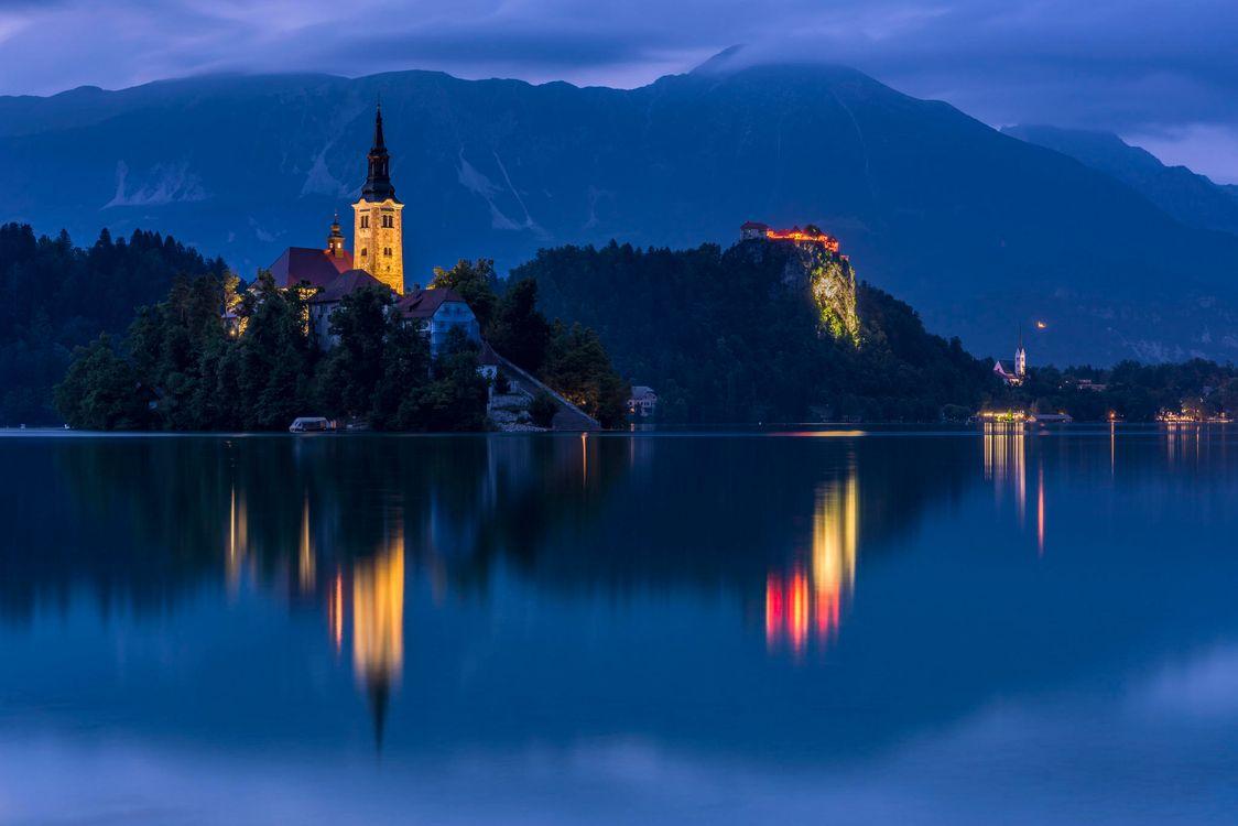 Картинка Озеро Блед, Словения, Бледское озеро, Bled Lake на рабочий стол. Скачать фото обои пейзажи