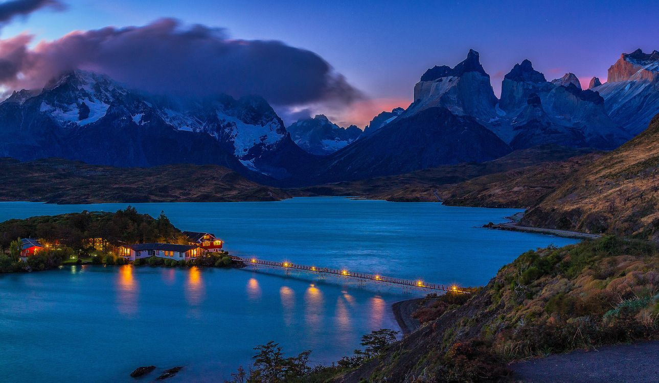 Free photo Patagonia, Hotel, Pehoe - to desktop