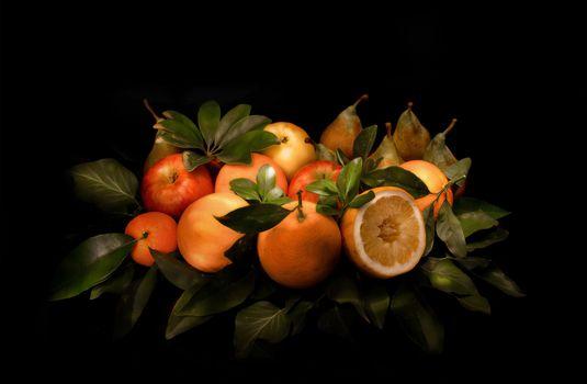 фрукты, десерт, еда, яблоки, груши