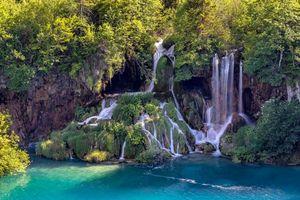 Заставки Plitvice Lakes National Park, Croatia, Национальный парк Плитвицкие озера, Хорватия, водопад, водопады, пейзаж