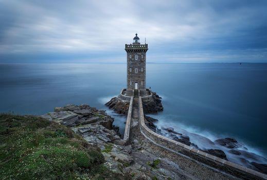 Фото бесплатно Маяк Керморван, Франция, Бретань