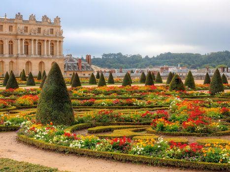 Фото бесплатно архитектура, версаль, кустарники