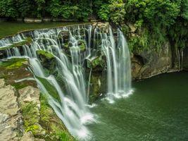 Фото бесплатно река, водопад, каскад