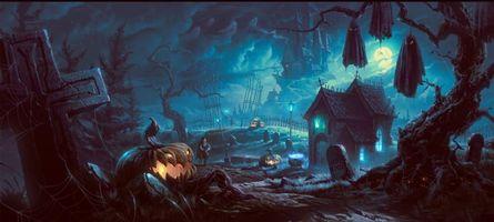 Бесплатные фото Halloween,Хэллоуин,один из древнейших праздников в мире,фэнтези