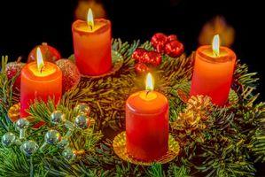 Фото бесплатно свечи, новогодние, элементы