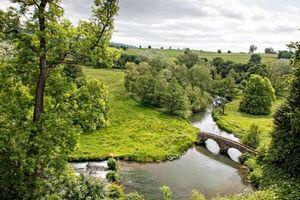 Бесплатные фото Уэльс,Engeland,Река Уай,Хэддон-холл,река,поля,холмы
