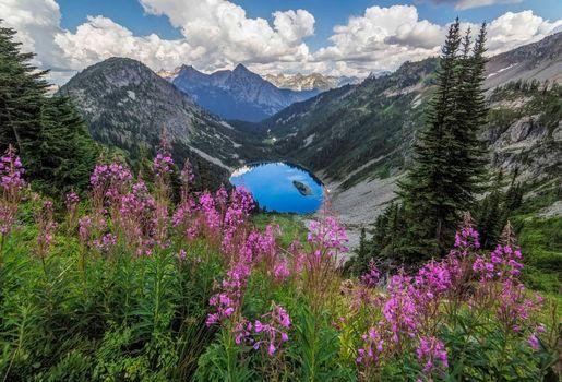 Фото бесплатно Озеро Энн, Скагитская долина, горы