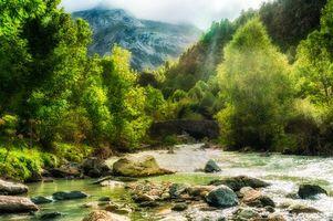 Фото бесплатно осень, мост, камни