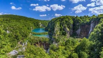 Заставки Plitvice Lakes National Park, Croatia, Национальный парк Плитвицкие озера, Хорватия, водопад, пейзаж