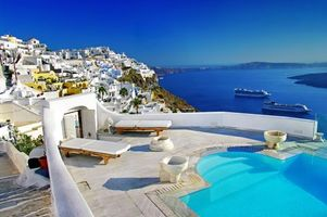 Бесплатные фото Греция,Санторини,море,город