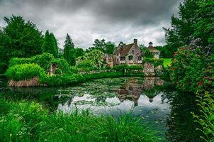 Бесплатные фото Англия,Сад,Великобритания,Кент,Замок Скотти,пейзаж,озеро