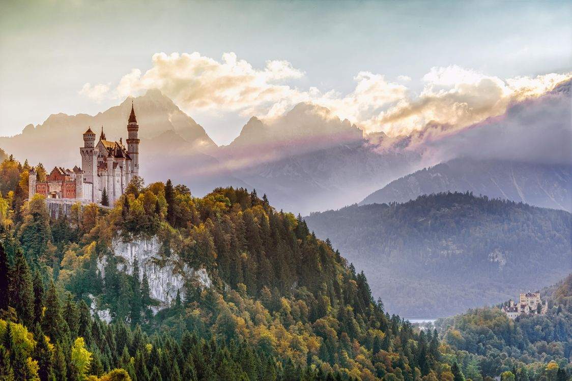 Фото бесплатно Замок Нойшванштайн, Бавария, Швангау - на рабочий стол