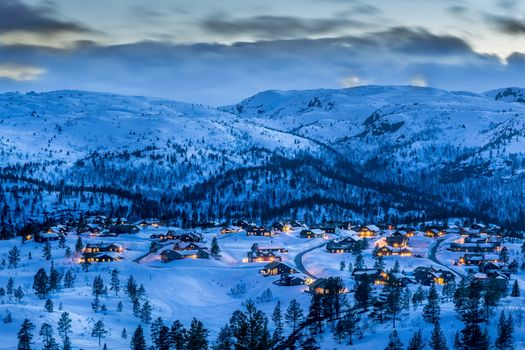 Photo free Southern Norway, Blue hour, sunset