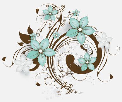 Фото бесплатно цветы, узор, белый фон