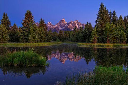 Фото бесплатно Национальный парк Гранд Тетон, озеро, горы