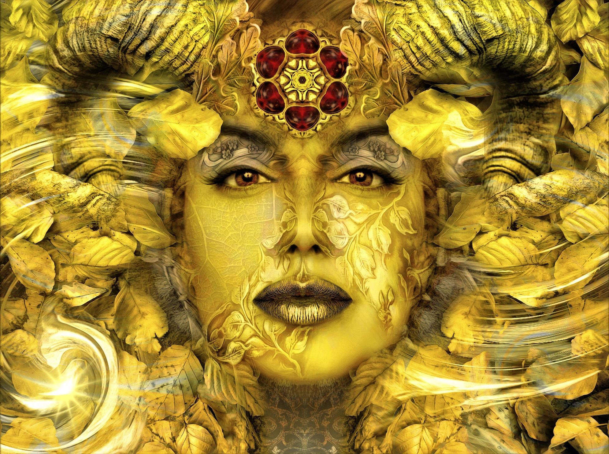 Обои Адхейм, Мистическое золото, Золотая осень