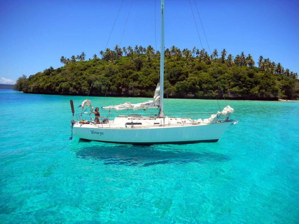 Фото бесплатно тропики, море, остров, яхта, пейзажи