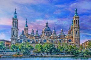 Бесплатные фото Базилика дель Пилар,Сарагоса,Испания