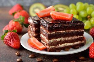 Бесплатные фото торт, шоколад, крем