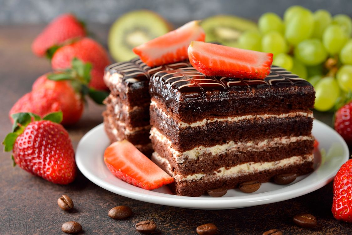 Фото бесплатно торт, шоколад, крем, еда - скачать на рабочий стол
