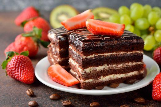 Фото бесплатно торт, шоколад, крем