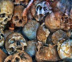 Фото бесплатно Черепа Камбоджи, остатки, людей