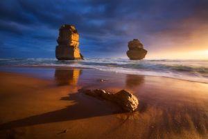 Бесплатные фото Великая океанская дорога, Порт-Кэмпбелл, Австралия, закат, море, скалы, пейзаж