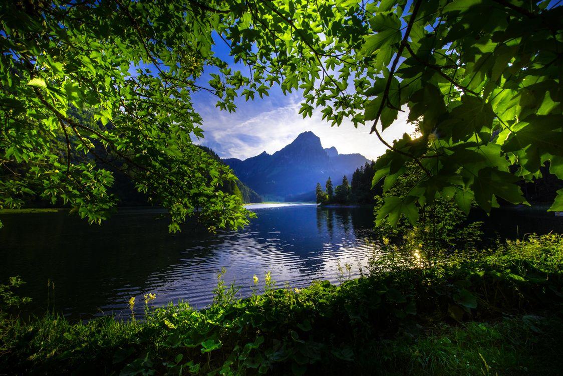 Фото бесплатно Озеро, Obersee, Glarnerland - на рабочий стол
