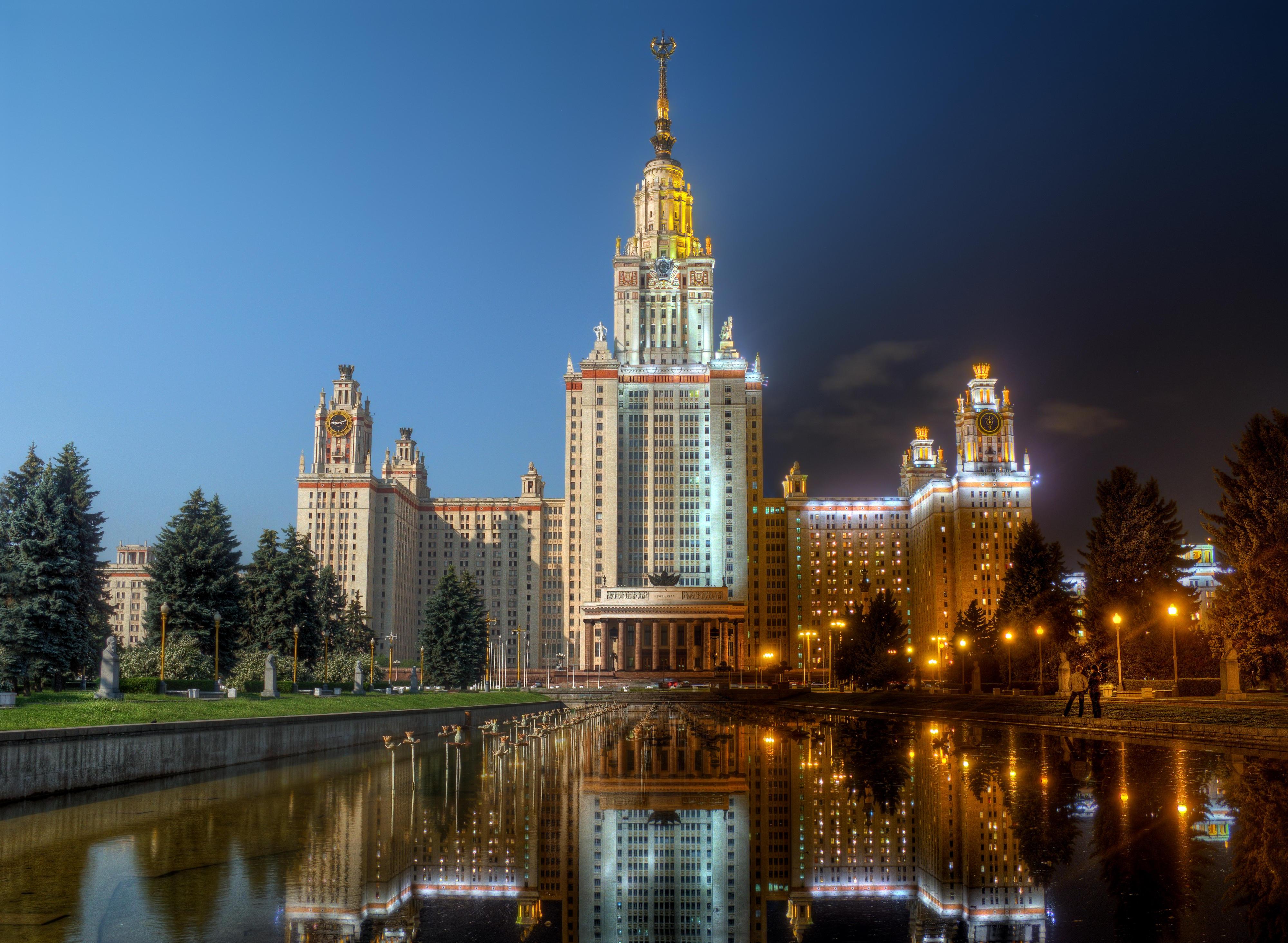 Обои Московский государственный университет имени М В Ломоносова, Москва, Россия