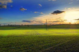 Фото бесплатно закат, поле, небо