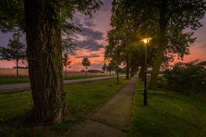 Фото бесплатно пейзаж, парк, дома