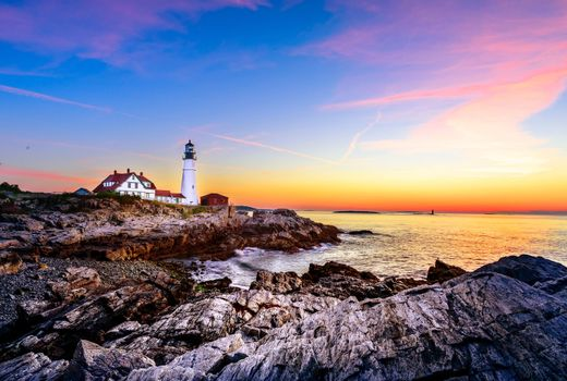 Photo free rocks, The Bay of Maine, Lighthouse