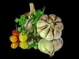 Бесплатные фото чеснок,перец,петрушка,еда