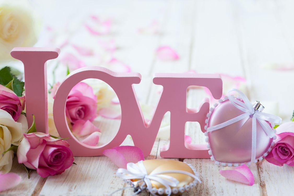 Фото бесплатно любовь, валентинка, цветы - на рабочий стол