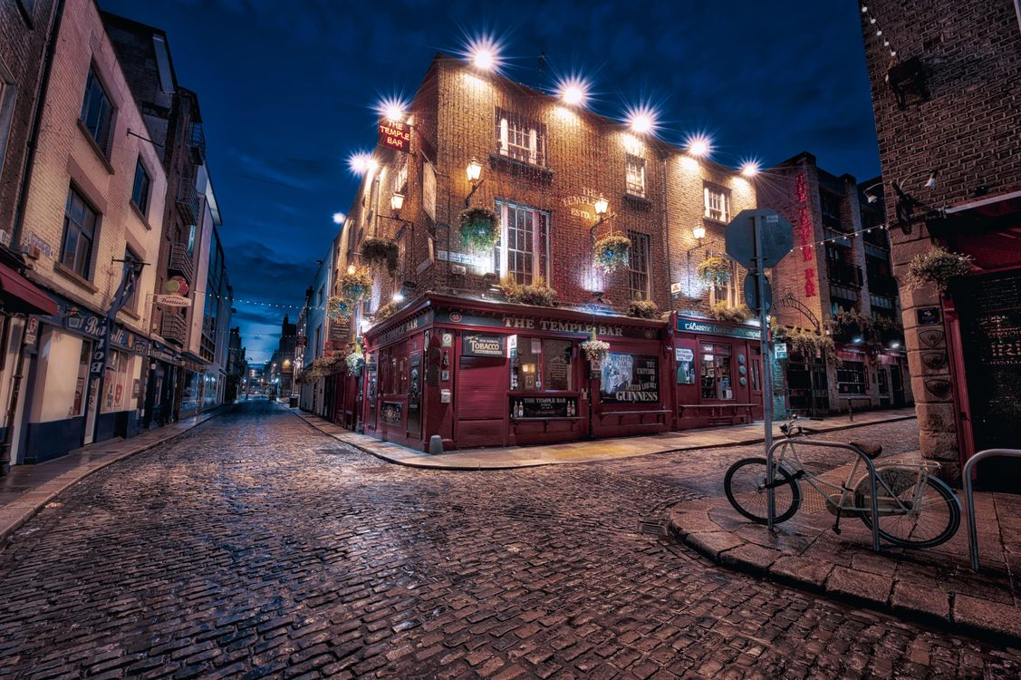 Обои Дублин, Ирландия, город, ночь картинки на телефон