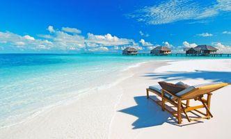 Фото бесплатно Мальдивы, Остров, море