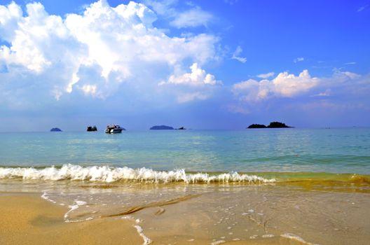 Скачать море, картинку яхты
