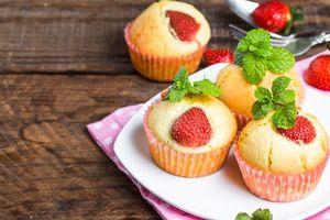 Бесплатные фото кексы,выпечка,десерт,ягоды
