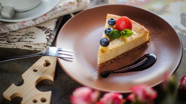 Photo free cake, berries, cheesecake