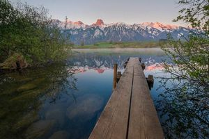 Фото бесплатно Uebeschisee, Швейцария, озеро