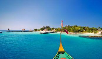Бесплатные фото Мальдивы,тропики,море,остров,пляж,лодка,отдых