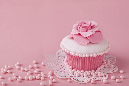 Фото бесплатно розовый, кекс, нежный