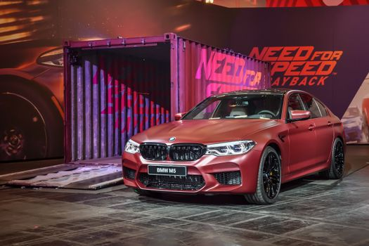 Photo free red BMW, red car, front of