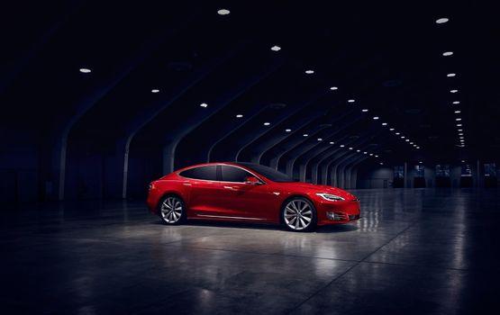 Фото бесплатно электромобиль, зарядка, красный